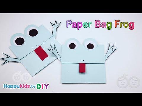 Paper Bag Frog | Paper Crafts | Kid's Crafts and Activities | Happykids DIY