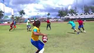 Myron Rolle Play 4 Progress 2015 Youth Football Camp Scrimmage