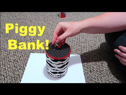 How to make a piggy bank super easy youtube for How to make a simple piggy bank