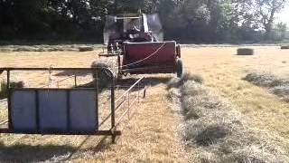 case ih 4230 baling hay with international baler