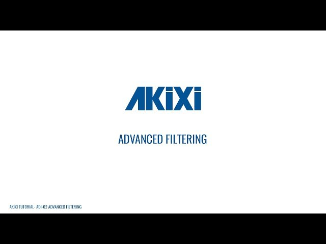 Advanced Report Filtering | Akixi Supervisor Tutorial