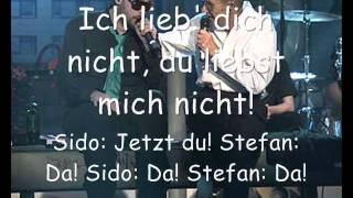 Sido feat. Stefan Remmler - Da Da Da mit komplettem Songtext