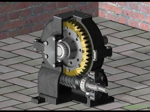 Self-locking of worm gear, or lift without brakes?