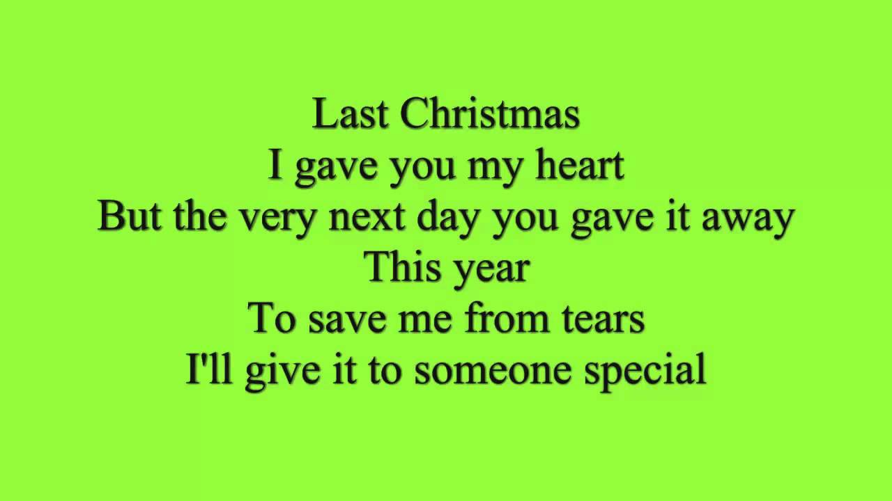 Text Von Last Christmas