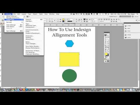 Adobe Indesign Tutorial - How To Use The Alignment Tools