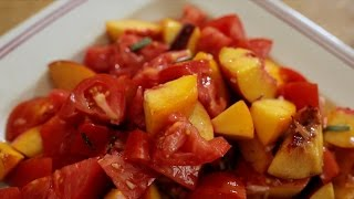 Chef Ian Knauer Recipe  Marmande Tomato and Peach Salad