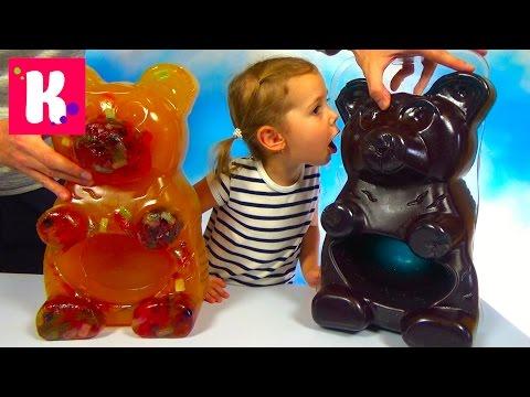 Огромный желейный Мега Медведь ПРОТИВ ВСЕХ