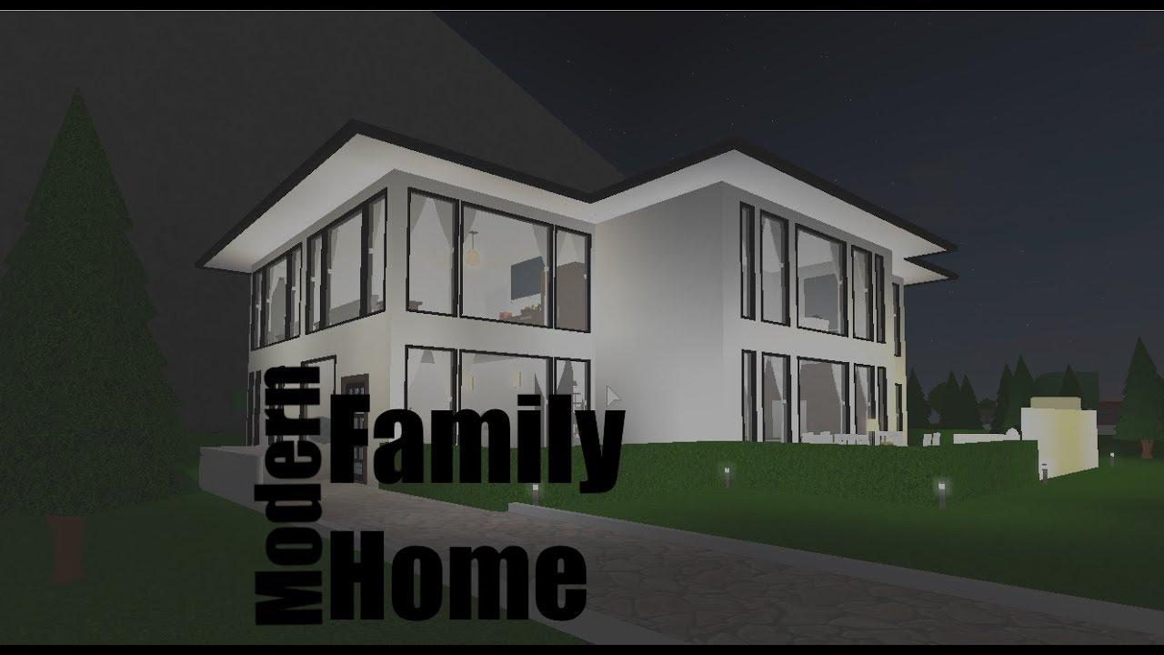 Modern Family Home Roblox Welcome To Bloxburg Speedbuild Youtube