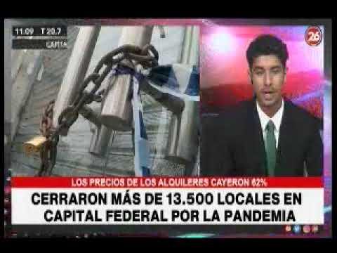 26TV Cierre de más de 13500 locales en microcentro por la pandemia