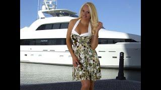 BLONDi Beachwear.com Green Blossom Halter Sundress Florida Fashion Lookbook