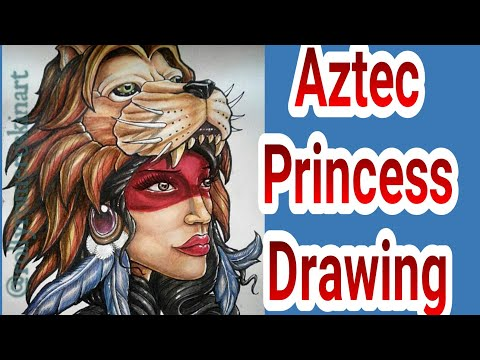 Aztec princess drawing