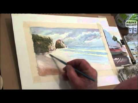 How to paint a seascape in watercolor - Painting Lessons tutorials ...
