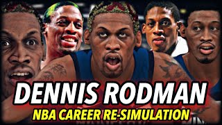 DENNIS RODMAN'S NBA CAREER RE-SIMULATION | THE GREATEST DEFENDER & REBOUNDER EVER? | NBA 2K20