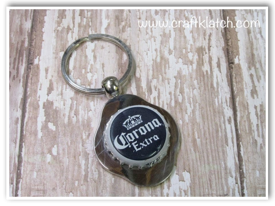 Diy Father S Day Beer Bottle Cap Keychain Youtube