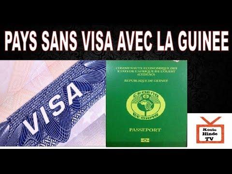 Les Pays Sans Visa Avec la Guinee-Voyager Sans Visa