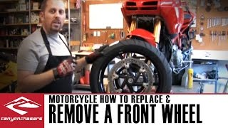 How to Remove and Replace a Front Motorcycle Wheel
