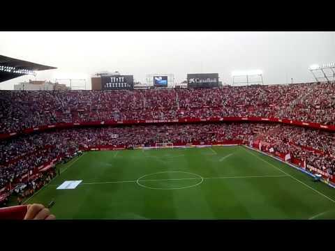 """Himno del centenario en el """"nuevo"""" Ramón Sánchez Pizjuán (Sevilla FC - Atlético de Madrid)"""