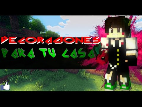 Decoraciones para tu casa en mcpe youtube for Decoraciones para tu casa