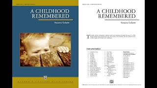 A Childhood Remembered, by Rossano Galante – Score & Sound