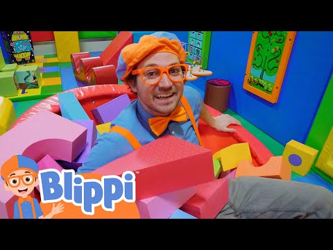 Blippi's Indoor Playground Learning   Educational Videos For Kids