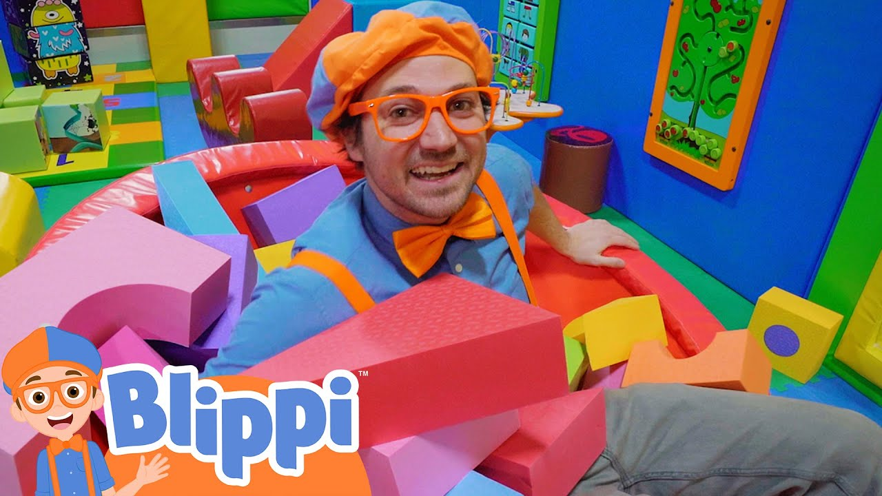 Blippi's Indoor Playground Learning | Educational Videos For Kids