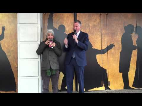 Live #Ham4Ham 4/6/16 -- Lin Welcomes Mayor Bill de Blasio