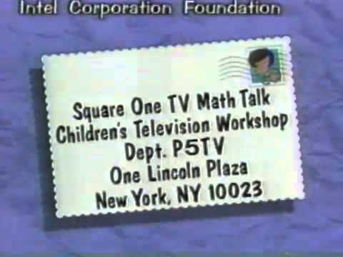 Square One TV Math Talk 1995 Funding Credits