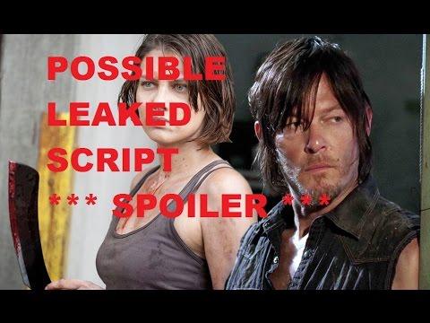 The Walking Dead Season 7 - NEGAN KILL POSSIBLE LEAKED SCRIPT - SPOILED!!!