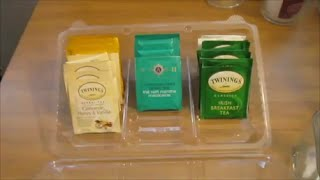 DIY ORGANIZING: Free Tea Bag Organizer-Using a Costco Cookie Container