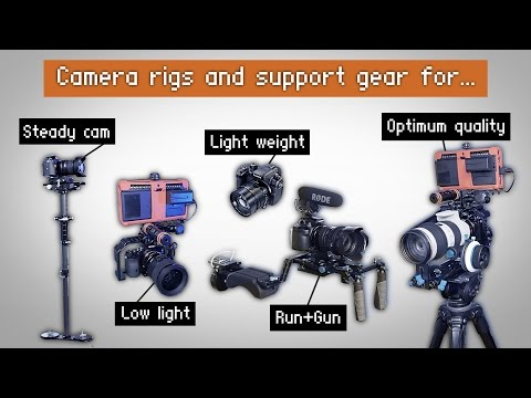 What I use, Camera rigs + support gear for film work. GH4 - a7s set ups.