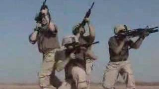 American troops having fun in Iraq