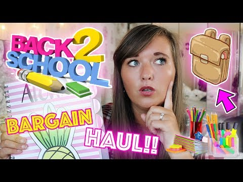 BARGAIN BACK TO SCHOOL HAUL!