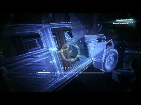 Batman Arkham Knight - Oracle Investigation (Overriding Bridge + Crash Site) Looking for clues