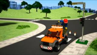 Lego City | Great Vehicles | 60054 | LIGHT REPAIR TRUCK | Lego 3D Review