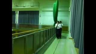 マッポス! ムカデ競争練習風景1