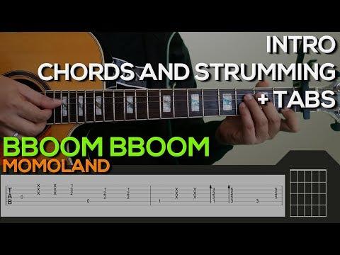 MOMOLAND - BBoom BBoom Guitar Tutorial [INTRO, CHORDS AND STRUMMING ...
