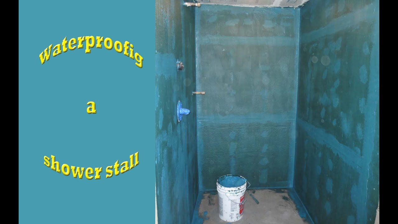 How to waterproof a bathroom shower stall - YouTube