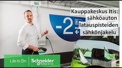Kauppakeskus Itis: sähköauton latauspisteiden sähkönjakelu   Schneider Electric