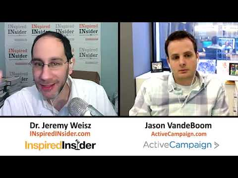 Jason VandeBoom of ActiveCampaign on InspiredInsider with Dr. Jeremy Weisz
