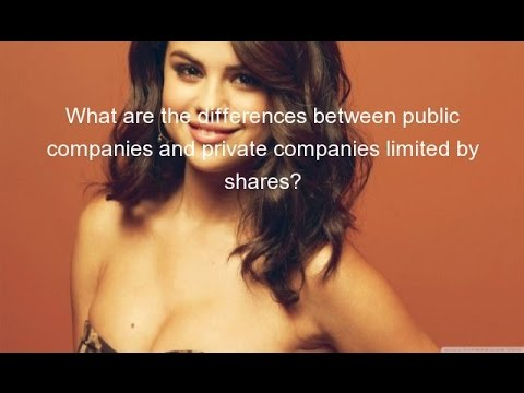 What are the differences between public companies and private companies limited by shares?
