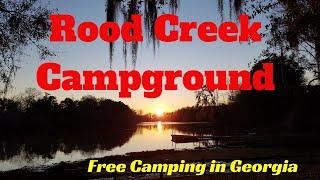 Free Camping in Georgia - Rood Creek