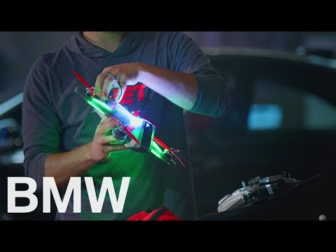 Drone Racing at the BMW Welt.