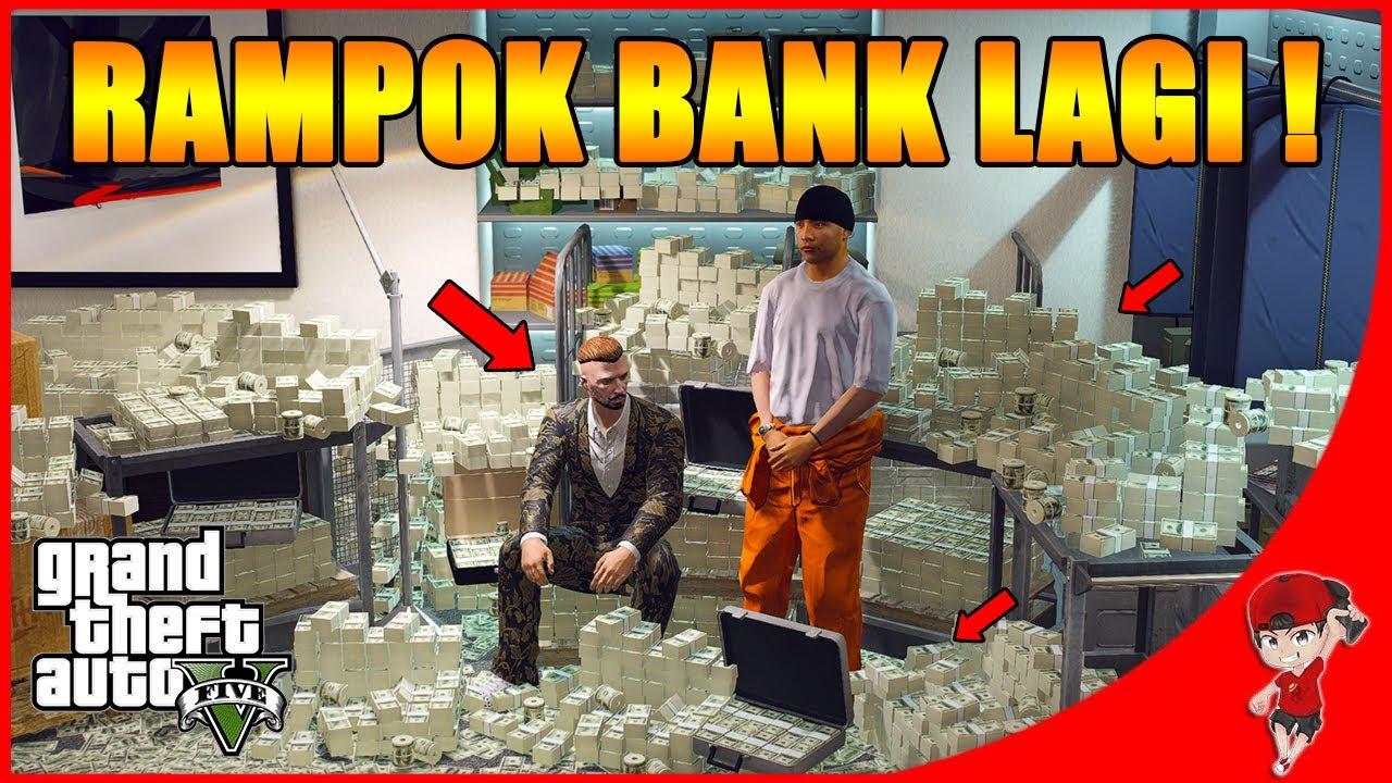 GTA V MOD MAFIA (9) - DAPET UANG BANYAK ! AKHIRNYA BISA RAMPOK BANK LAGI !!