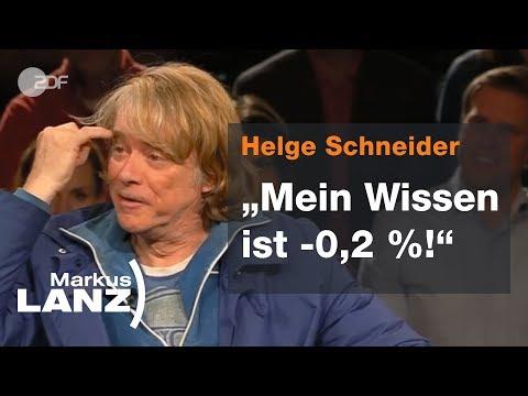 Helge Schneider über sein Tourleben und die Heimat - Markus Lanz vom 28.11.18 | ZDF