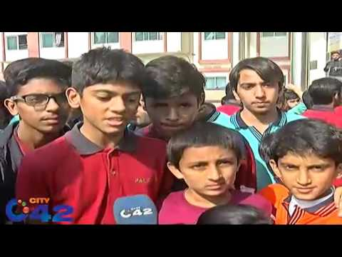 Students of Pak Turk school stage protest in Lahore