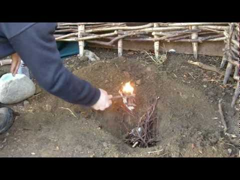Prehistoric copper smelting in a pit!