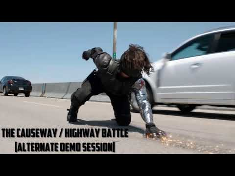 Captain America the winter soldier ost causeway / Highway battle [ Alternate demo session ]
