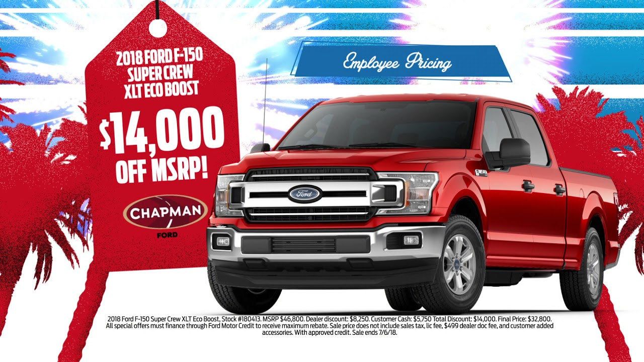 Chapman Ford Scottsdale >> Chapman Ford Scottsdale 4th Of July Sales Special 2018