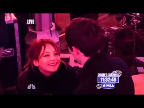 Jennifer Lawrence and Nicholas Hoult-New Years Eve with Carson Daly