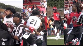 Quavos Huncho Day Flag Football Highlights Julio Jones Ezekiel Elliot Offset 21 Savage  More